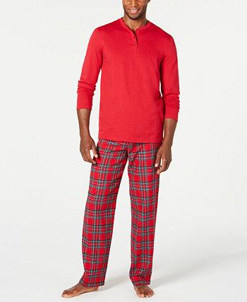 Matching Men's Mix It Семейная пижама в клетку Brinkley Plaid, созданная для Macy's Family Pajamas
