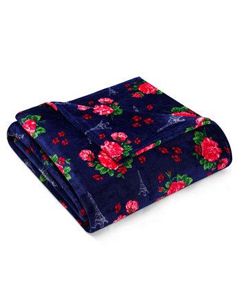 Одеяло Betsey French Floral Passport синее полное / королевское Betsey Johnson