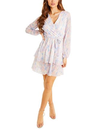 Платье трапециевидной формы с объемными рукавами Quiz