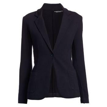 Пиджак на одной пуговице из французского терри Majestic Filatures