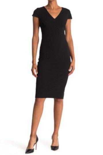 Платье из крепа с короткими рукавами Donna Morgan