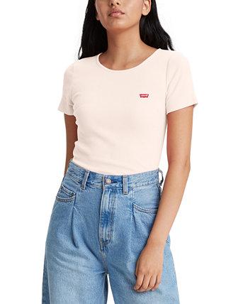 Женская футболка с логотипом в рубчик Honey Levi's®