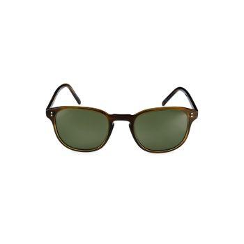 Круглые солнцезащитные очки Fairmont 49 мм Oliver Peoples