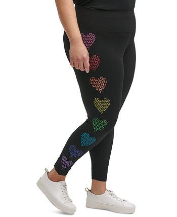 Леггинсы большого размера с высокой талией и логотипом Pride Heart Calvin Klein