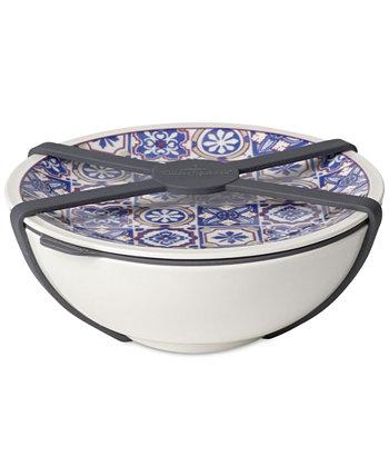 Блюдо среднего размера индиго Modern Dining с крышкой Villeroy & Boch