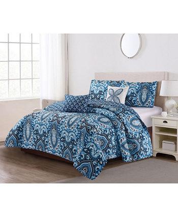 Комплект лоскутного одеяла Felicity из 5 предметов полный / Queen Harper Lane