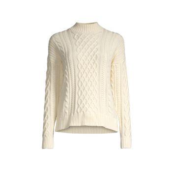 Кашемировый вязаный свитер Minnie Rose