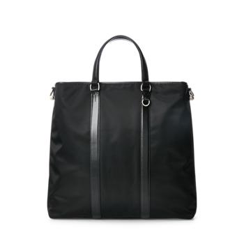 Размер сумки-тоут из твила с отделкой из телячьей кожи Ralph Lauren