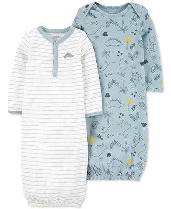 Baby Boys 2-Pack Sleeper Gowns Carters