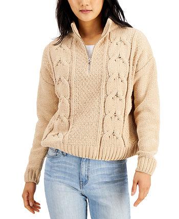 Джуниорский свитер вязанной вязки из синели Hooked Up by IOT