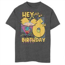 Футболка для мальчиков 8-20 Nickelodeon Hey Arnold с рисунком на шестой день рождения Nickelodeon
