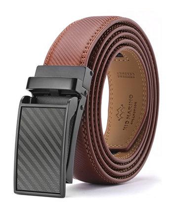 Мужской кожаный ремень Linxx дизайнер с трещоткой Mio Marino