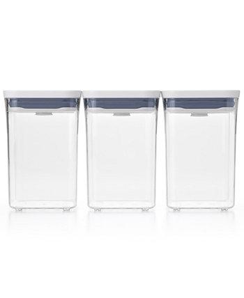 Pop 3-Pc. Набор значений контейнера для хранения пищевых продуктов Oxo
