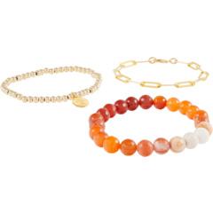 Стопка браслетов-цепочек Picture Jasper Ombre с драгоценными камнями и скрепками Dee Berkley