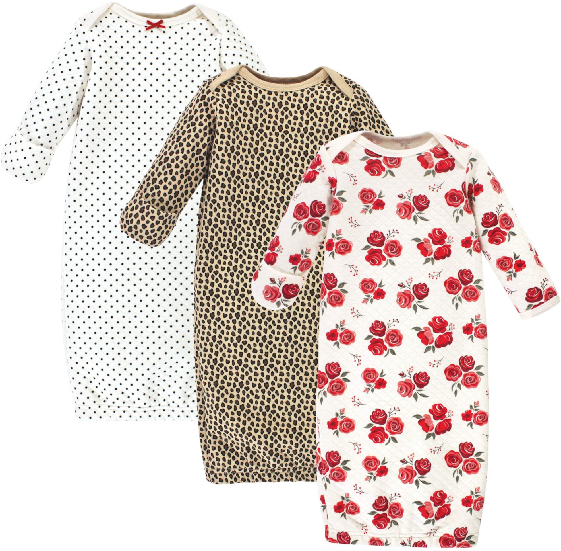 Quilted Cotton Gowns 3-Pack (Infant) Hudson Baby