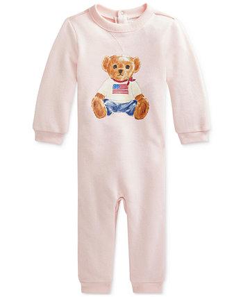 Флисовый комбинезон Polo Bear для маленьких девочек Ralph Lauren
