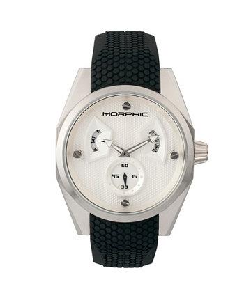 Серия M34, Серебряные силиконовые часы, 44 мм Morphic