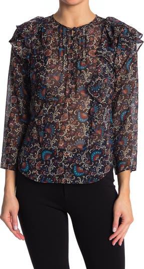 Шелковая блуза с цветочным принтом Aneri VERONICA BEARD