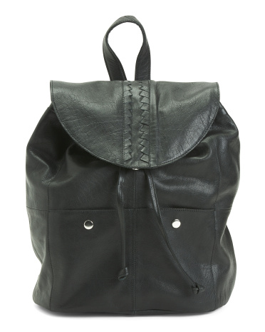 Leather Flap Front Backpack Day & Mood