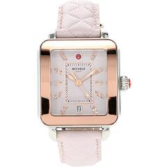 Стеганые часы Deco Sport с двухцветным циферблатом и топазом Michele