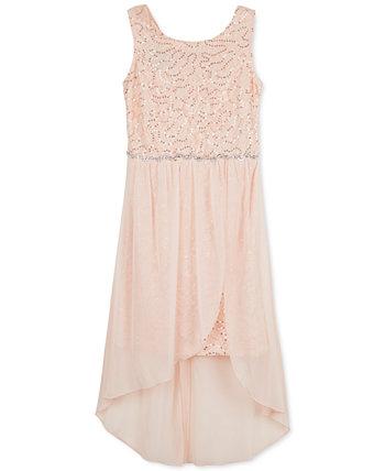 Платье для девочек с блестками High-Low Hem BCX