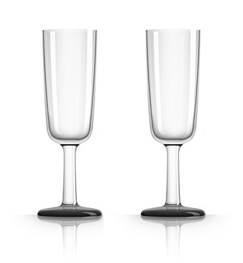 Palm Tritan - Небьющееся стекло для флейты с черным нескользящим основанием, набор из 2 шт. Marc Newson