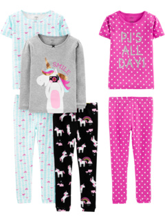Хлопковый пижамный комплект из 6 предметов (Маленькие / Старшие дети) Simple Joys by Carter's