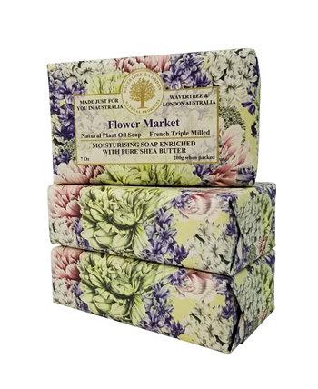 Мыло Flower Market, 3 штуки в упаковке, 7 унций каждая Wavertree & London