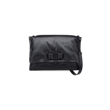 Большая кожаная сумка через плечо Viva Bow с мягкой подкладкой Salvatore Ferragamo