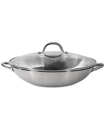 """Stainless Steel 14"""" Multipurpose Pan with Glass Lid Sedona"""