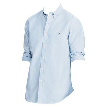 Хлопковая оксфордская рубашка классического кроя Polo Ralph Lauren