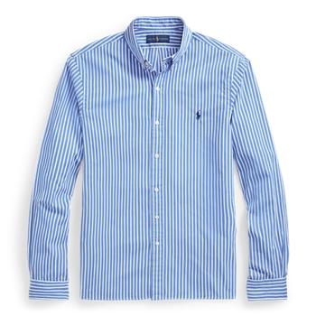 Приталенная рубашка из поплина в полоску Ralph Lauren