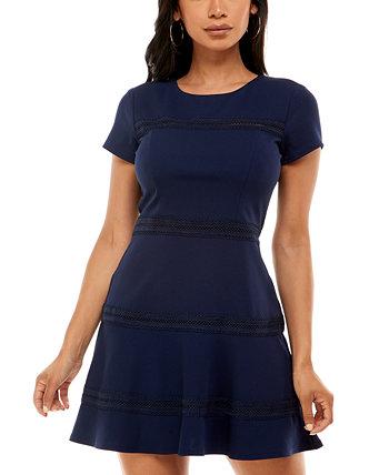 Платье фигуристки с кружевной отделкой для юниоров B Darlin