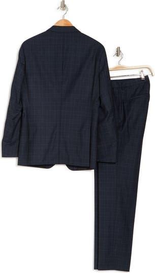 Herrel/Grace Check Print Wool Blend Notch Collar Suit BOSS Hugo Boss