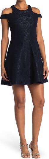 Кружевное платье с вышивкой Sharagano