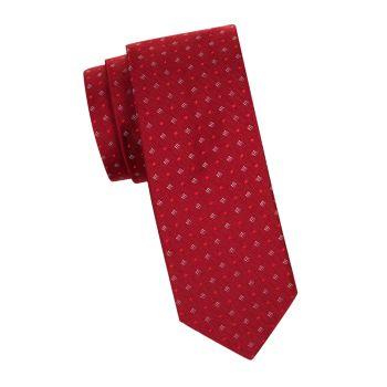 Открытый галстук с ромбовидным узором Hugo Hugo Boss