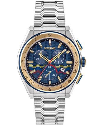 Мужские швейцарские часы с хронографом M331 из нержавеющей стали с браслетом 45 мм Missoni