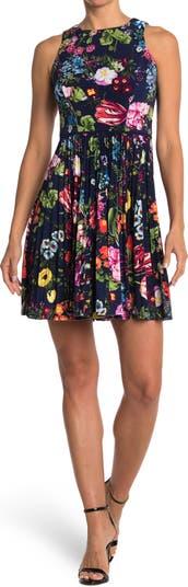 Botanical Bloom Sleeveless Fit & Flare Dress Maggy London