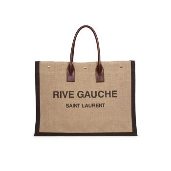 Льняная сумка с короткими ручками Rive Gauche Saint Laurent