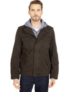 Толстовка с двумя карманами, нагрудник / капюшон с капюшоном на молнии и подкладка из шерпа Levi's®