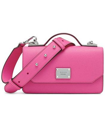 Маленькая сумка-портфель с жемчугом и ручкой сверху DKNY