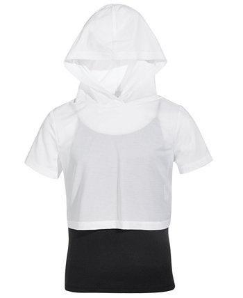 Big Girls Mesh-Hood Layered-Look Top, Created for Macy's Ideology