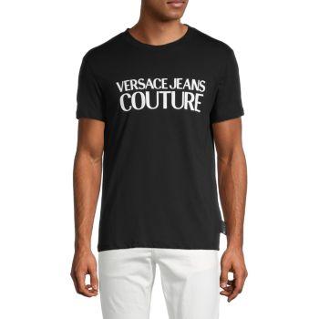 Футболка из хлопка с логотипом Versace Jeans Couture