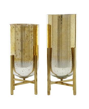 Коллекционный набор из 2 разноцветных металлических подсвечников, 18 дюймов, 16 дюймов Venus Williams