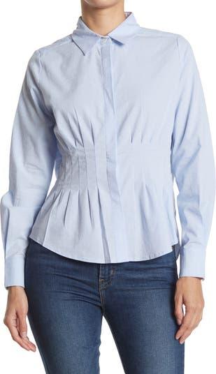 Рубашка Pindot на пуговицах с зауженной талией FRNCH