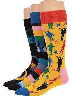 Подарочная коробка Битлз 3-Pack Happy Socks