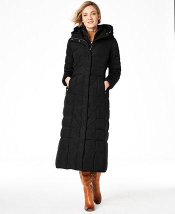 Пуховое макси-пальто с капюшоном Cole Haan