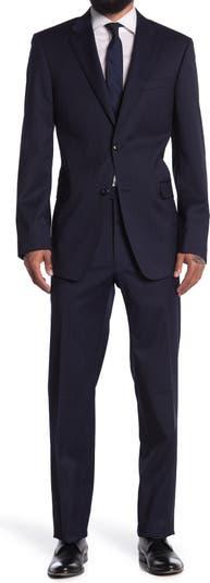 Однотонный костюм с двумя пуговицами и лацканами Tommy Hilfiger