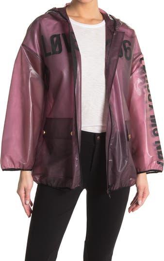 Прозрачная куртка с отделкой логотипом RED VALENTINO