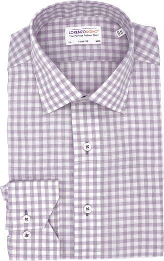 Классическая рубашка с отделкой в мелкую клетку Lorenzo Uomo